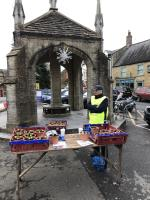 Hyacinth bulb selling in Buckydoo and Beaminster Town Square