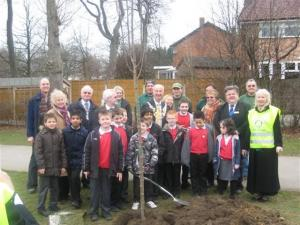 RIBI President David Fowler's Tree Planting 18th March 2010