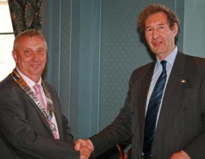 Club Handover- A welcome to our new president David Ellis