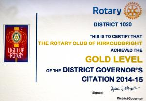 Certificates awarded to our club 2014-2015