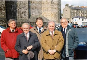 Members of Holyhead and Dun Laoghaire Rotary Clubs on an exchange visit  to Anglesey in 1995