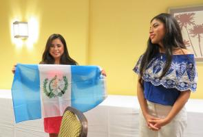 Picture: Kenilworth Rotarians recently hosted RYLA students, Ana and Paula, from Guatemala