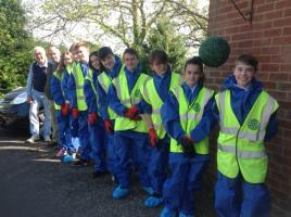 Abbeyfield garden project by Honeywood pupils