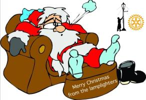 Santa says thank you and Happy New Year