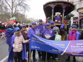 Rotary takes part in London New Year Day's Parade