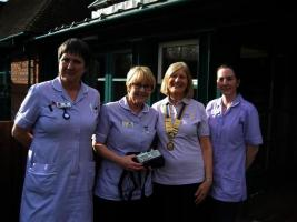 Club supports The Shakespeare Hospice in Southam