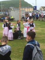 Cream Teas and maypole dancing display at the Salt House, West Bay