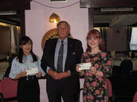 Asia Ogden and Victoria Hoover receive John Nicholson Bursary Awards