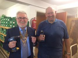 Dinner and speaker from the Knighton's Mens Shed
