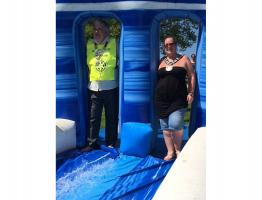 Mayor's Charity Water Slide Event