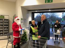 Christmas Waitrose Bag Packing