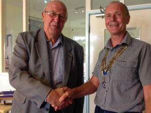 Mike Davis joins Rotary