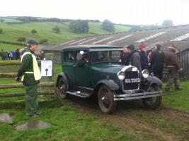 Vintage Sports Car Club Rally car parking