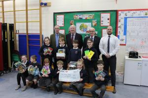 Cheque presentation to Foxhole Learning Academy