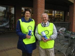 Collection on behalf of Rotary local charities
