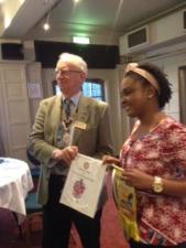 Rotarian Phadeela Elias from Ghana visited our club today