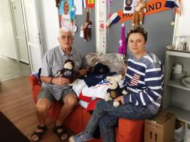 Donated items at a Special Needs Placement Centre in Romania