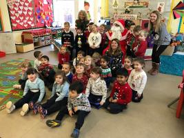 Santa visits Brookmans Park School