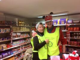 Our Christmas collection, 2nd day, at the Knighton Co-op