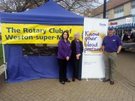 Our annual public Blood Pressure Day keeps us busy in Weston High Street