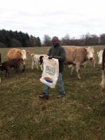 Denis Bannah from Sierra Leone visits Scottish farm