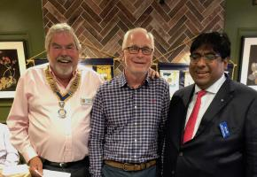 Chelwood Bridge welcomes Duncan Aitken to membership of Rotary.