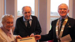 Dr George Caithness MBE made an Honorary Member of the Rotary Club of St Andrews