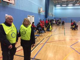 Car park marshalling for Kent Boccia League Tournament
