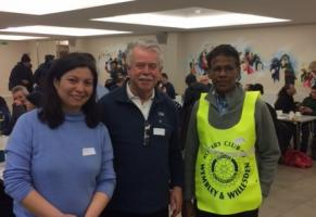 Rotary serves dinner to homeless people