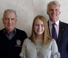 President Kimberley Baird attends Rotary lunch meeting