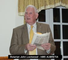 Rotarian John Lockwood - HMS Aubretia and the Enigma Machine