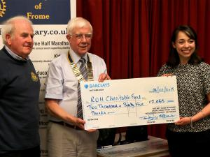 Rotary Clubs handover £6000 to RUH and Help for Heroes