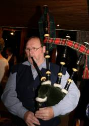 Bill McRobb who piped in the haggis and entertained us later in the evening.