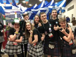 WHA Students Fly the Flag for Scotland and the Local Community