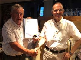 Past President Alan Jones acknowledged for his service