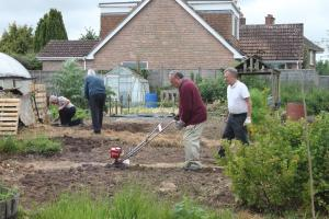 The Rotary Allotment takes shape
