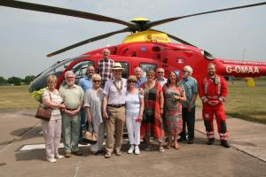 We visit the Midlands Air Ambulance base at Cosford