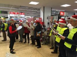 Collections and Rotary Singers at Asda and Morrisons