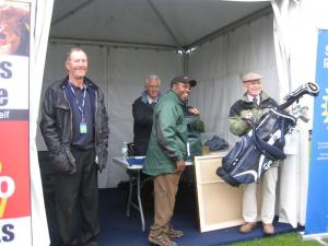 Dunhill Raffle ticket sales on Old Course and at Morrisons Oct 2011