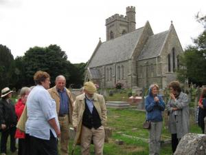 Fellowship evening with guided tour at Fairlight Church and Cemetry led by Rotarian Brion Purdey.