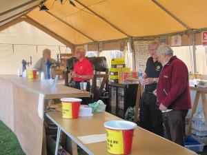 Ryde Rotary Club Scooter rally beer tent 2015