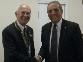 President John Loran and Immediate Past President, Richard Everitt
