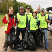 Sponsored Litter Pick at Rockingham Castle Estate