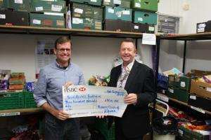 Cheque Presentation to Food Bank