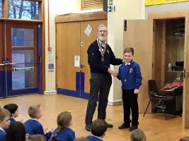 New Rotakids President at Upperby Primary School