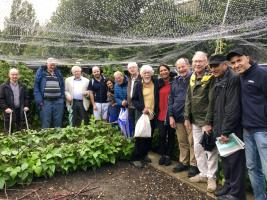 Club visit to Richard's allotment and the Rowing Club