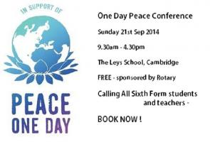 Sep 2014 Peace One Day Conference 9.30am - 4.30pm