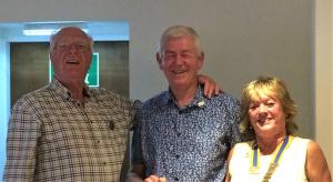 Two more members for Llandudno Rotary