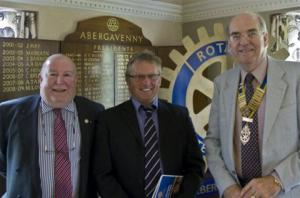 Induction of new member, Keith Davies, on 15th August 2011