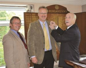Induction of new member, Martin Phillips, on 17th October 2011